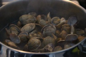 Clam broth